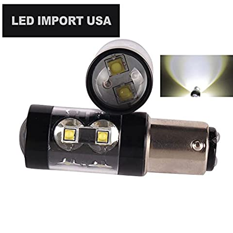 Led import usa 50W 1157 2057 2357 7528 BAY15D P21/5W Dual Brightness LED Lights Bulbs with Projector for Turn Signals Reverse Backup Brake Tail Lights Xenon (71 Chevelle Led Tail Lights)