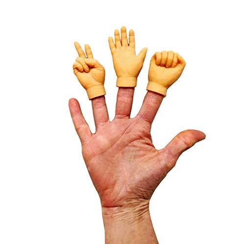 Halloween Paper Finger Puppets (One Each Rock Paper Scissors Rubber Finger Hands 3 Mini)