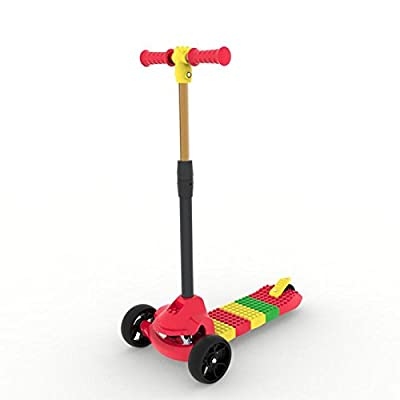 BLITZART Cube Kids Hands-On Build-Yourself DIY Kick Scooter (Red) : Sports & Outdoors
