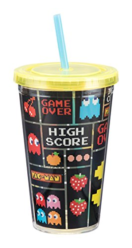 vandor-69014-pac-man-18-ounce-acrylic-travel-cup-multicolored