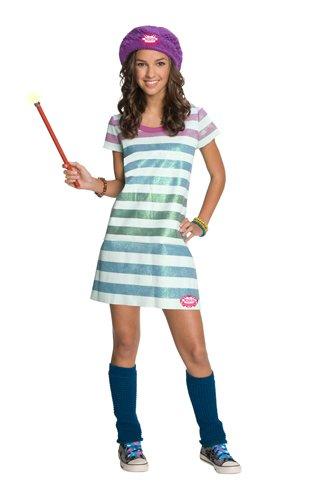Wizards of Waverly Place Alex Striped Dress Costume, (Alex Wizards Of Waverly Place Costume)