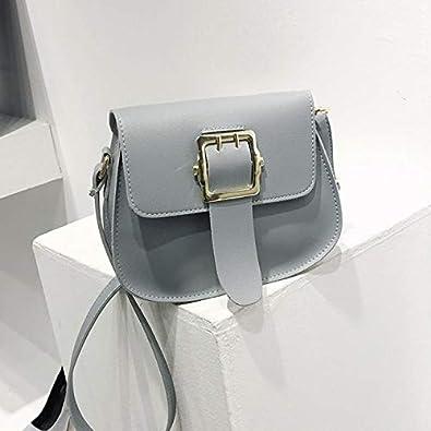 Amazon.com: Women Solid Color Leather Hasp Shoulder Bag Messenger Satchel Tote Crossbody Bag Handbag mochilas mujer bolsa feminina #P5 Color Gray: Shoes