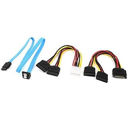 Amazon.com: eDealMax SATA DE 15 Pines hembra 4 a IDE Cable adaptador Serie 7P Poder Pines Macho ATA: Electronics