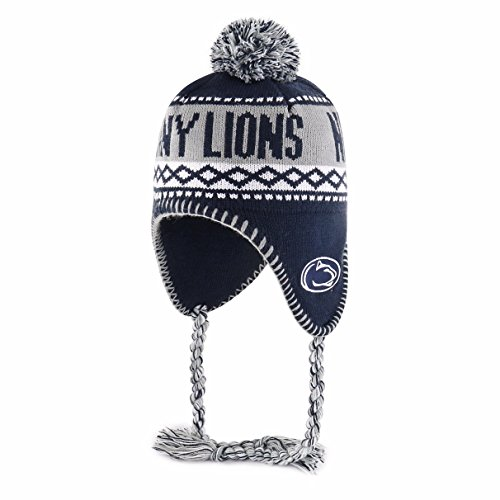 NCAA Penn State Nittany Lions Adult NCAA Abenaki Ots Sherpa Knit Cap with Pom, One Size, Navy