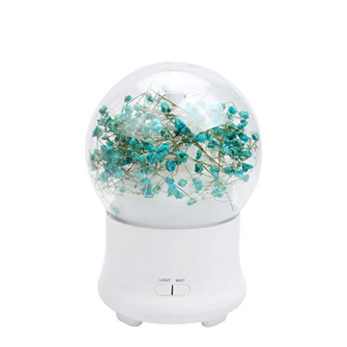 Alimao Practical Everlasting Flower Night Light Air Humidifier Essential Oil decorationDiffuser Mist Sky Blue