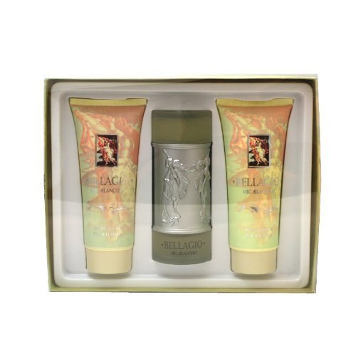Bellagio Shower Gel - Vapro International Bellagio Women Gift Set (Eau De Parfum Spray, Body Cream, Body Wash) by Vapro