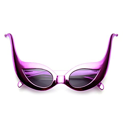[zeroUV - Joker Masquerade Ball Mask Jester Costume Party Sunglasses (Purple Smoke)] (The Joker Masquerade Costume)