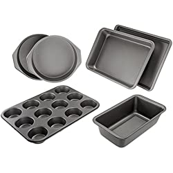 AmazonBasics 6-Piece Nonstick Bakeware Set