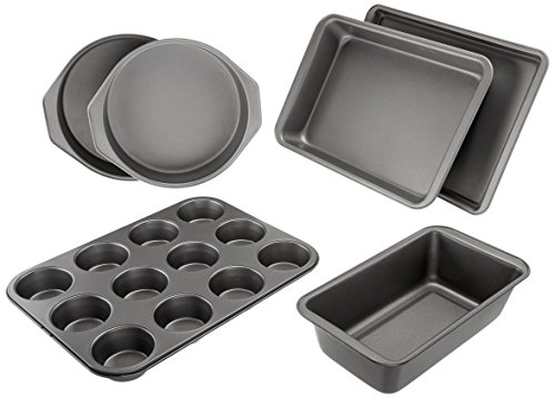 - AmazonBasics 6-Piece Nonstick Oven Bakeware Baking Set