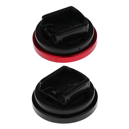 Jili Online 2 Pieces Universal MTB Mountain Bike Stem Extension Top Cap Computer Mount Bracket Red and Black by Jili Online