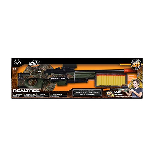 NKOK Realtree Bolt Action Soft Dart Rifle ()