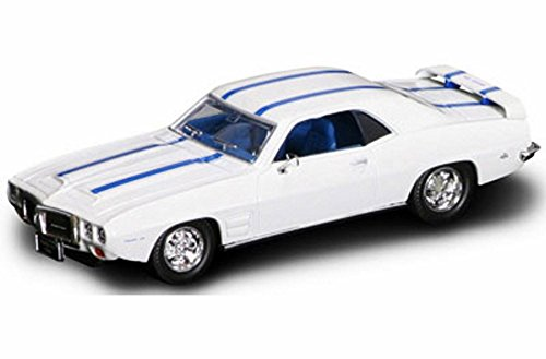 1969 Pontiac Firebird Trans Am, White w/ Stripes - Yatming 94238 - 1/43 Scale Diecast Model Toy (1969 Pontiac Firebird Trans Am)