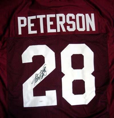 half off 31aa7 b90b1 Adrian Peterson Signed Jersey - University of Oklahoma - JSA ...