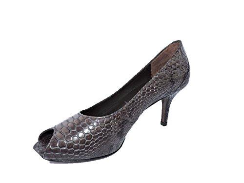 Donald J Pliner Womens Lucius Python Print Leather peep Toe Pumps 3