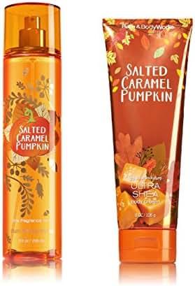 Bath & Body Works ~ Signature Collection ~ Salted Caramel Pumpkin ~ Gift Set ~ Fine Fragrance Mist & Ultra Shea Body Cream