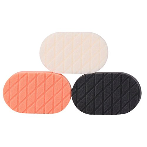 SPTA Finishing Hand Applicator Polishing Pad Sets For Car Wax Buff Pack of 3Pcs