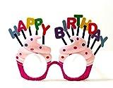 Sweet birthday cake with Happy Birthday shaped party eye mask