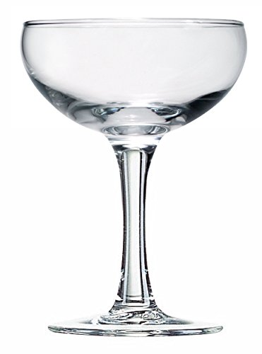 Luminarc Arc International Specialty Cocktail/Coupe/Champ Cup (Set of 12), 5.5 oz, Clear ()