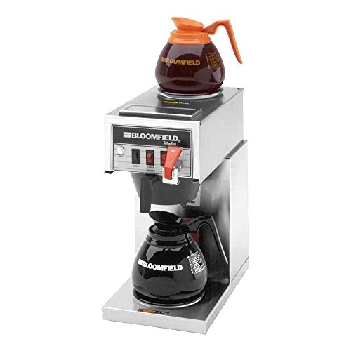 Bloomfield 8540D2F Koffee King Automatic Coffee Brewer, Low Profile, Pour-Over Option, Single, Faucet, 1 Lower, 1 Upper, 17