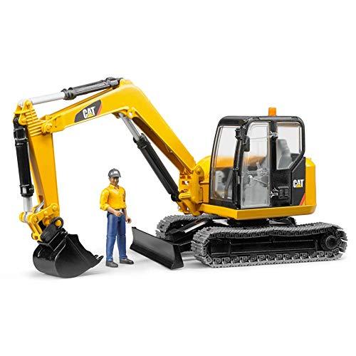 Bruder Mini - Bruder Toys CAT Mini Excavator with Worker Vehicle