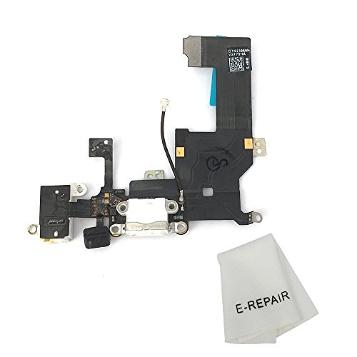 Charging Port Dock & Headphone Jack Connector Flex Cable Replacement for iPhone 5 Black (Best Iphone 5 Charging Dock)