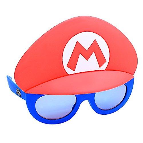 Super Mario Sunstaches Instant Costume Sunglasses by (Luigi Mask)