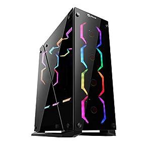 Talius Caja ATX Gaming Cygnus Cristal Templado 4fan USB 3.0