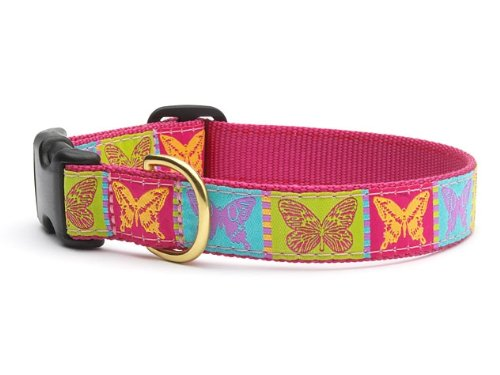 Butterfly Dog Collar with Quick Release Buckle - X-Large (18-24 Inches) - 1 In Width
