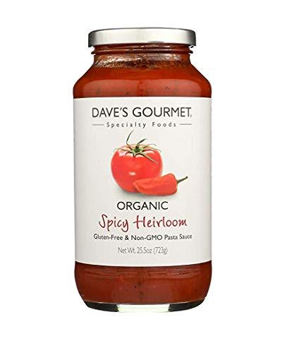 Dave's Gourmet Organic Spicy Heirloom Pasta Sauce - Case of 6 - 25.5 FL oz