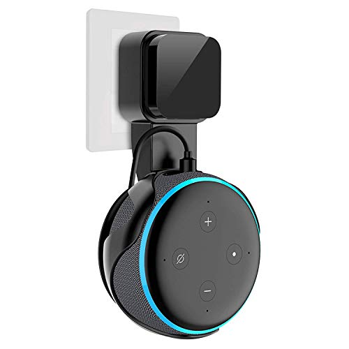 Marccch Outlet Wall Mount Hanger Holder Stand for Home Voice Assistants (3nd Generation Only), A Space-Saving Solution for Your Smart Home Speakers Without Messy Wires or Screws (Black)