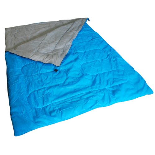 Kingfisher Unisex OLSB2 Double Polyester Camping Sleeping Bag, Blue, NA
