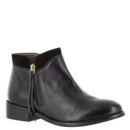 Bella Vita Dame Læder Lukket Tå Ankel Mode Støvler Sort Læder YHDP9C