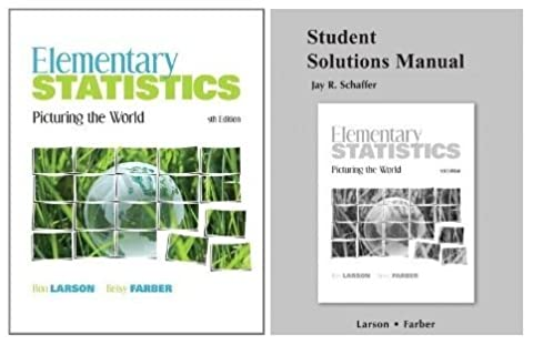 amazon com elementary statistics picturing the world student rh amazon com Elementary Statistics for Beginners Elementary Statistics Examples