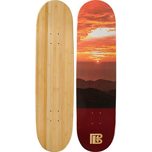 Bamboo Skateboards Sunset Graphic Skateboard Deck, Natural, 8.0