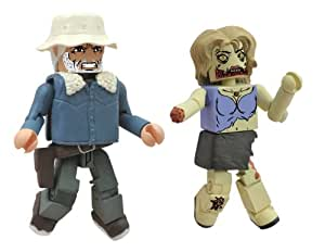 Diamond Select Toys Walking Dead Minimates Series 1: Dale in Winter Coat and Female Zombie, 2-Pack