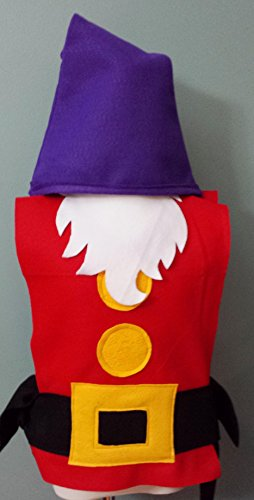 Kids Grumpy Dwarf Costume Set (Snow White and the Seven Dwarfs) - Baby/Toddler/Kids/Teen/Adult Sizes by Teatots Party Planning