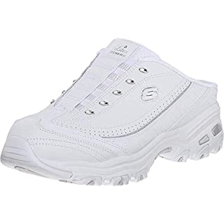 Skechers Sport Women's D'lites Bright Sky Fashion Sneaker, White/Silver, 6 W US