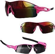 VeloChampion Warp Cycling Driving MTB Hybrid Sunglasses Running Sports Glasses UV400 Protection & 2 Spare