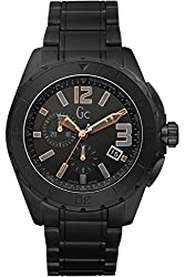 Guess Collection Gc X76009g2s Black Ceramic Chronograph Men's Swiss Watch