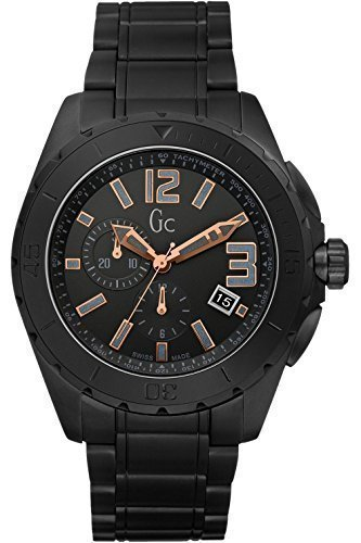 Guess Collection GC X76009G2S Black Ceramic Chronograph Men's Swiss (Guess Ceramic Watch)