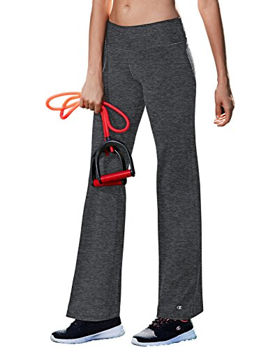 Champion Women's Absolute Semi-Fit Pant with Smoothtec Waistband, Granite Heather, 2XLS