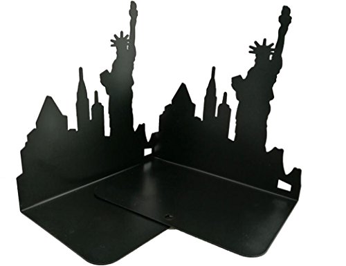 Winterworm One Pair Fashion Modern European American Architecture Landmark Theme Style Thickening Iron Library School Metal Bookends Book End Perfect Mother's Day Gift (New York Statue Of Liberty) Photo #8