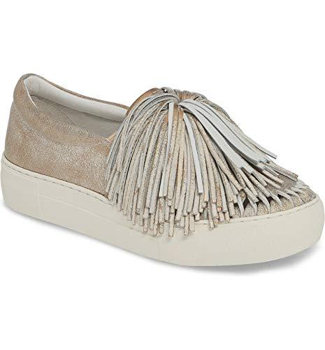 J Slides Women's ARIA Sneaker Bronze Metallic Suede 8 Medium US
