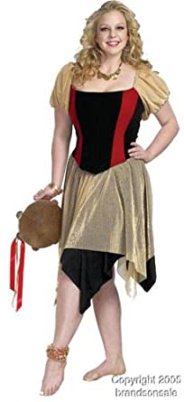 adult womens plus size gypsy costume size 3x large 26 28 - Size 26 Halloween Costumes