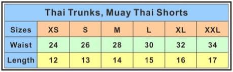 Boxing Trunks TopTie Kickboxing Muay Thai MMA Training Shorts