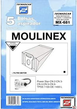 Tecnhogar - Caja 5 Bol. Asp.Moulinex Power-Star: Amazon.es ...