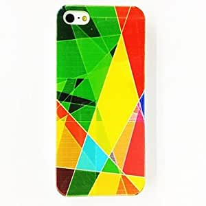 Punk Colorful Irregular Triangle Pattern TPU Soft Case for iPhone 5/5S , Multicolor