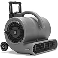VP-50 Air Mover Floor Fan - 1/2 HP Carpet Dryer Stackable with Handle Bar for Janitorial Water Damage Restoration Gray
