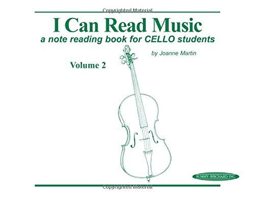 I Can Read Music: Cello (Volume II of II) by Martin, Joanne published by Alfred Music (1997)