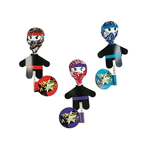 Ninja Sucker Craft Kit - Makes 12 Ninja Lollipops - Oriental Trading Company Star Costumes